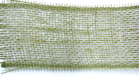 Ribbon Jute & Paper Open Weave Moss (100mm x 10m)