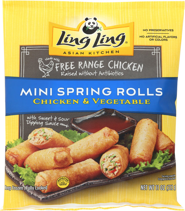LING LING: Mini Chicken Spring Rolls, 11 oz