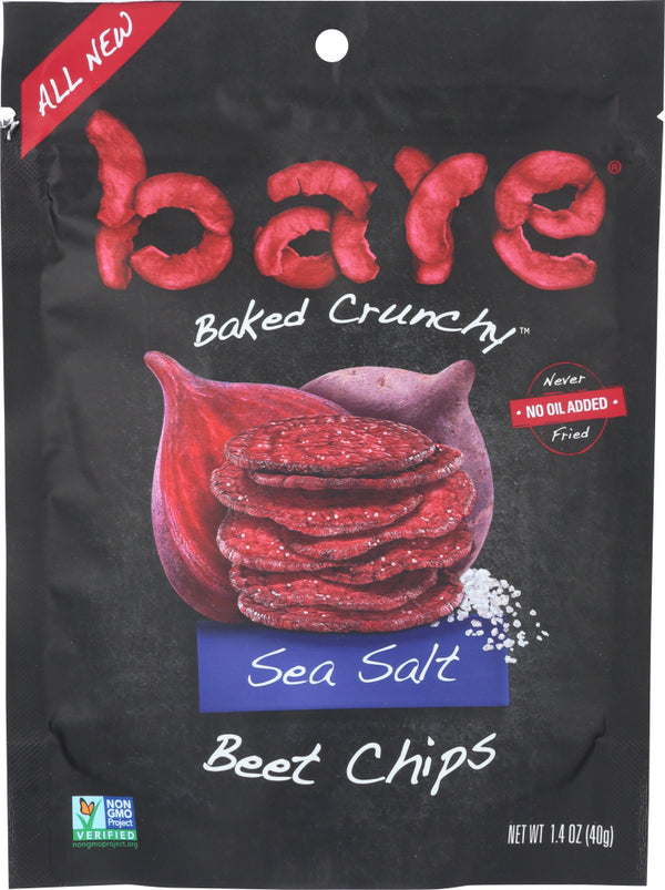 BARE FRUIT: Chips Sea Salt Beet, 1.4 oz
