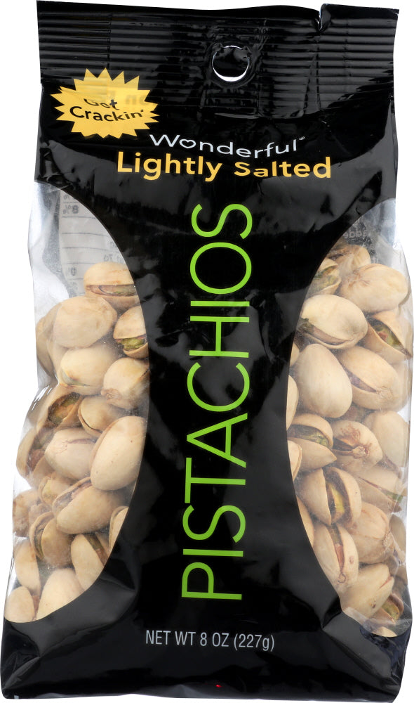 WONDERFUL PISTACHIOS: Lightly Salted Pistachios, 8 oz