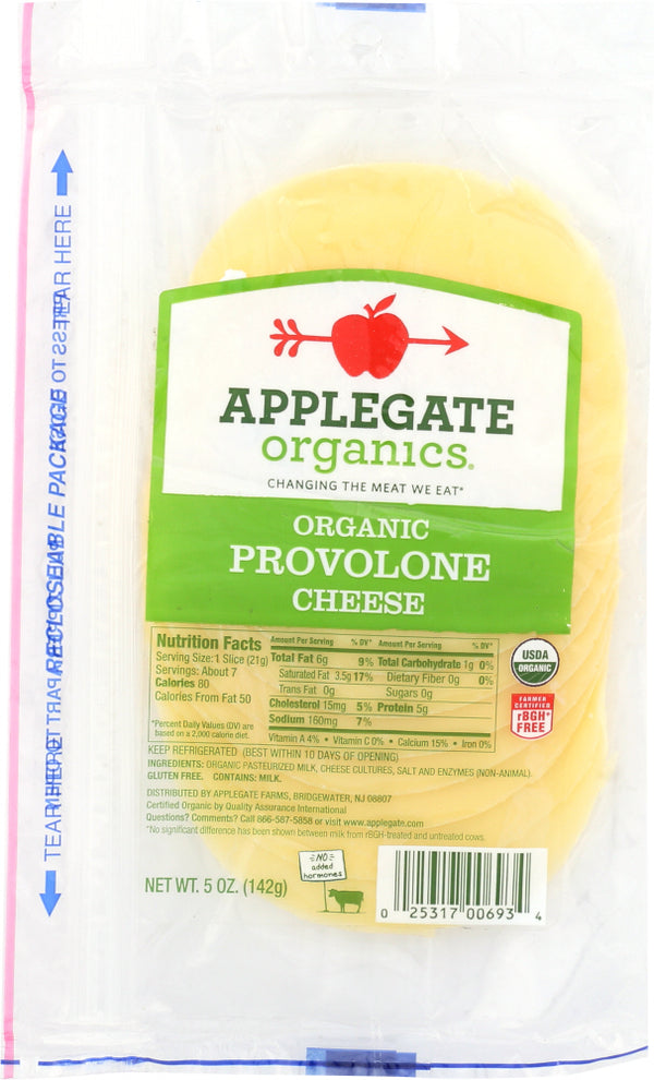 APPLEGATE: Organic Provolone Cheese Sliced, 5 oz