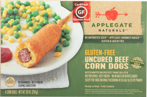 APPLEGATE: Gluten-Free Uncured Beef Corn Dogs, 10 oz