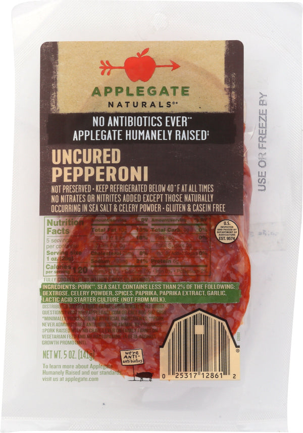 APPLEGATE: Natural Pepperoni Uncured, 5 oz