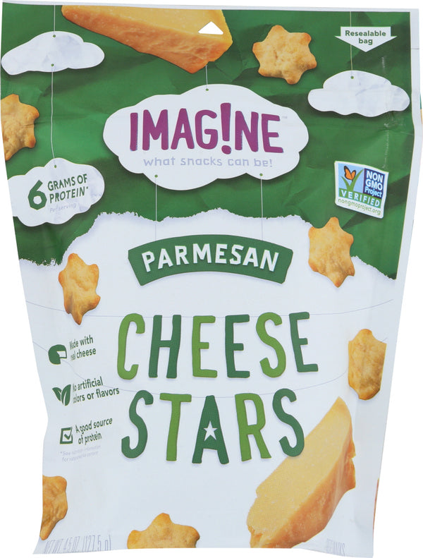 IMAGINE: Parmesan Cheese Stars Crackers, 4.5 oz