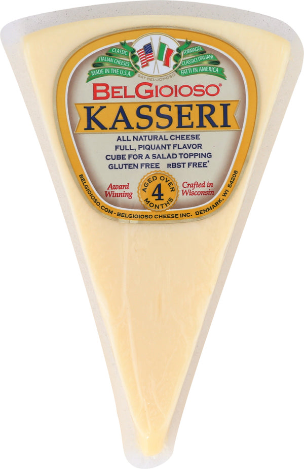BELGIOIOSO: Kasseri Wedge Cheese, 8 oz