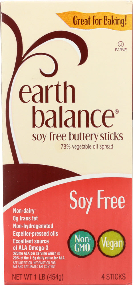 EARTH BALANCE: Soy Free Buttery Sticks, 16 oz
