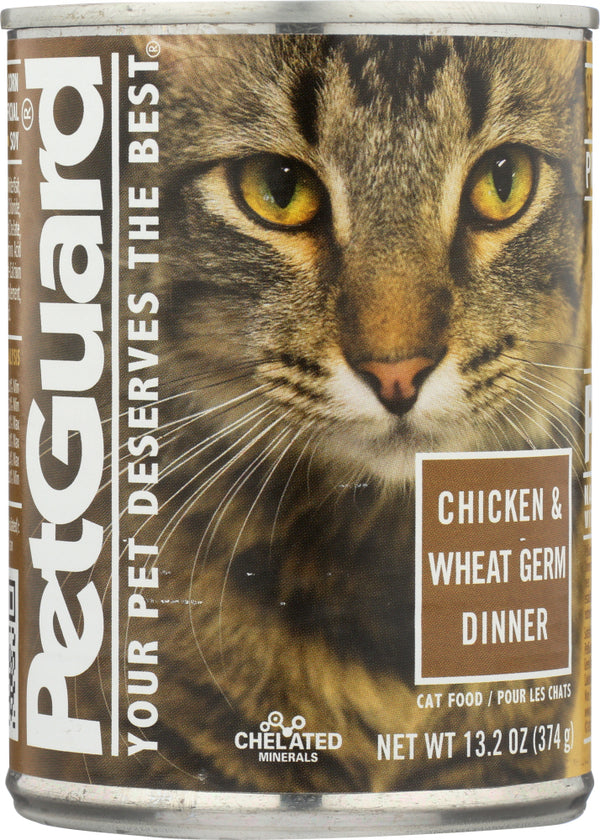 PETGUARD: Chicken and Wheat Germ Dinner Canned Cat Food, 13.2 oz