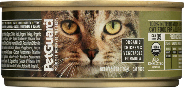PETGUARD: Cat Chicken & Vegetable Organic, 5.5 oz