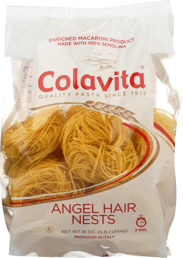 COLAVITA: Capellini Nests Angel Hair Pasta, 16 oz