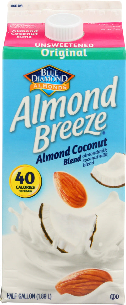 BLUE DIAMOND: Almond Breeze Coconut Unsweetened Original, 64 oz