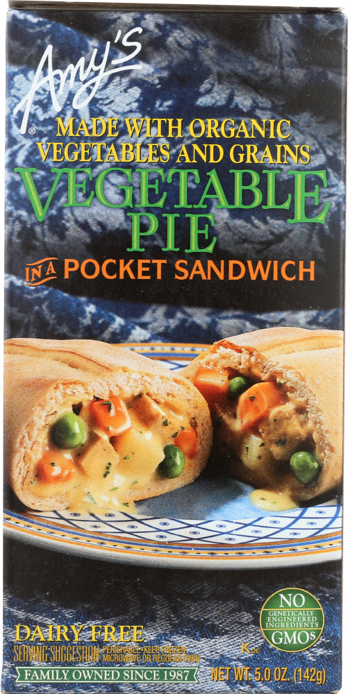 AMY'S: Vegetable Pie in a Pocket Sandwich, 5 oz