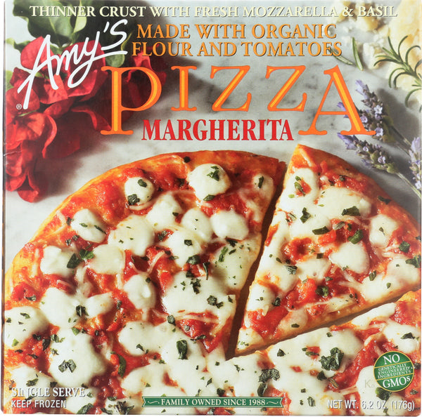 AMY'S: Single Serve Margherita Pizza, 6.2 oz