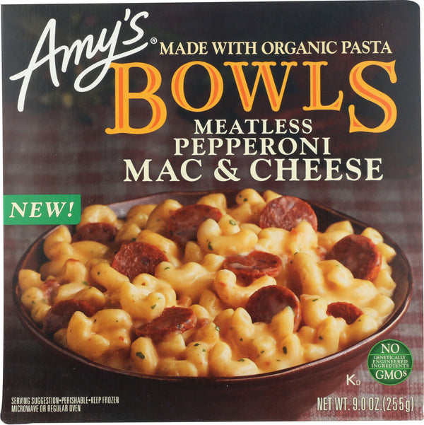 AMYS: Meatless Pepperoni Mac and Cheese Bowl, 9 oz