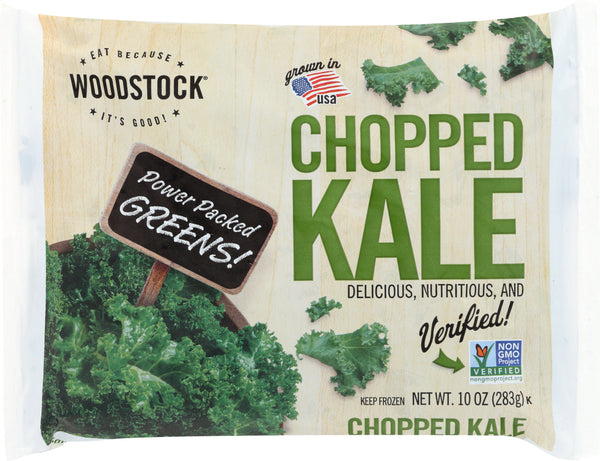 WOODSTOCK: Frozen Chopped Kale, 10 oz