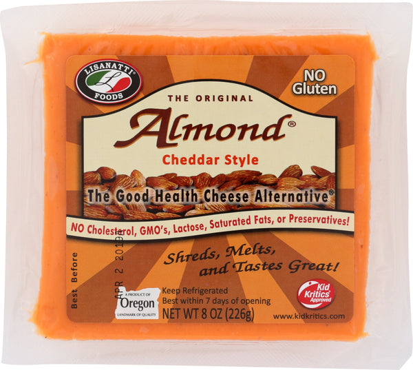 LISANATTI: Cheddar Style Almond Cheese, 8 oz