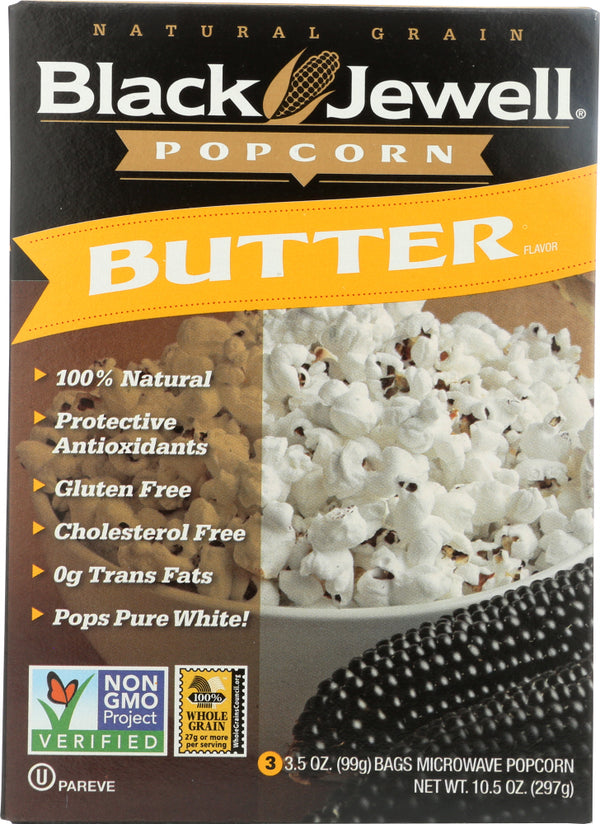 BLACK JEWELL: Premium Microwave Popcorn Butter 3 Bags, 10.5 oz