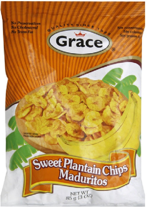 GRACE CARIBBEAN: Chip Banana Sweet, 3 oz