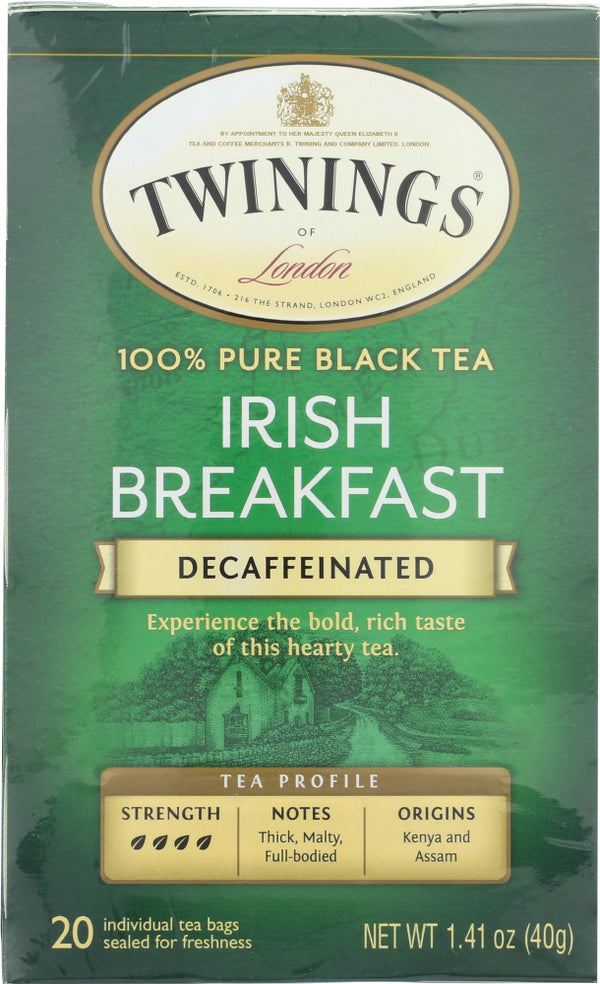 TWININGS: Decaffeinated Irish Breakfast Tea, 20 tea bags