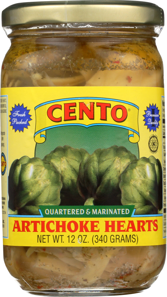 CENTO: Artichoke Hearts Quartered and Marinated, 12 oz