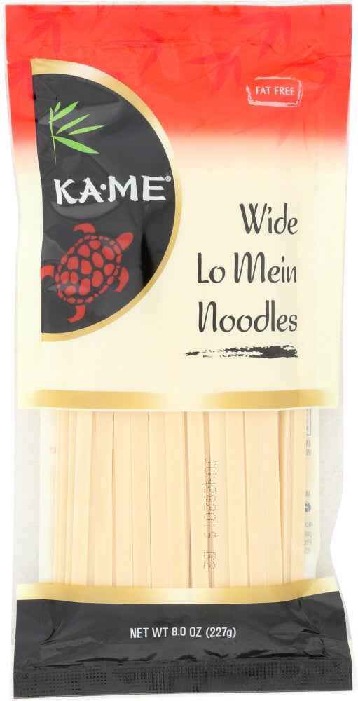 KA-ME: Wide Chinese Lo Mein Noodles, 8 oz