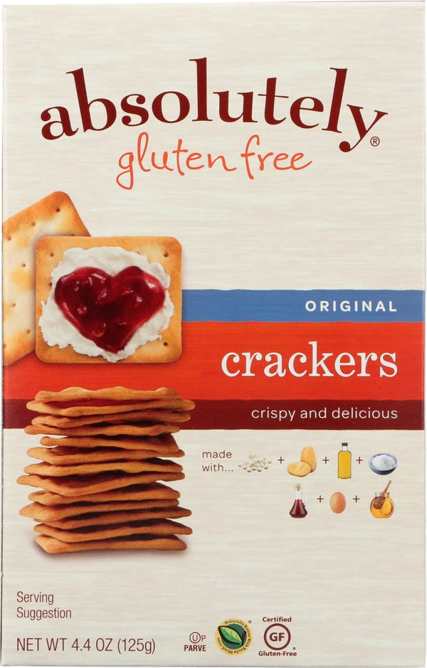 ABSOLUTELY GLUTEN FREE: Cracker Gluten Free Original, 4.4 oz