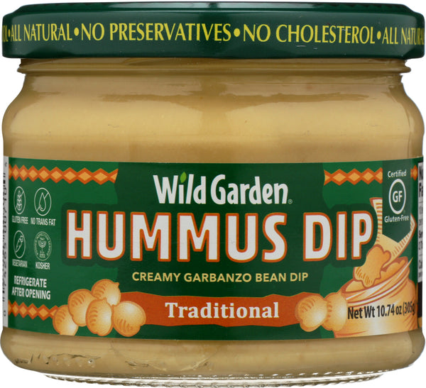 WILD GARDEN: Hummus Dip Traditional, 10.74 oz
