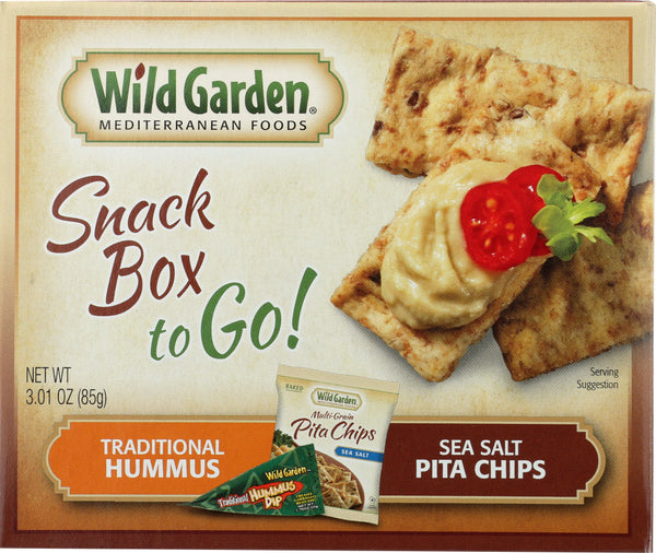 WILD GARDEN: Chip Pita Hummus Combo Traditional, 3.01 oz