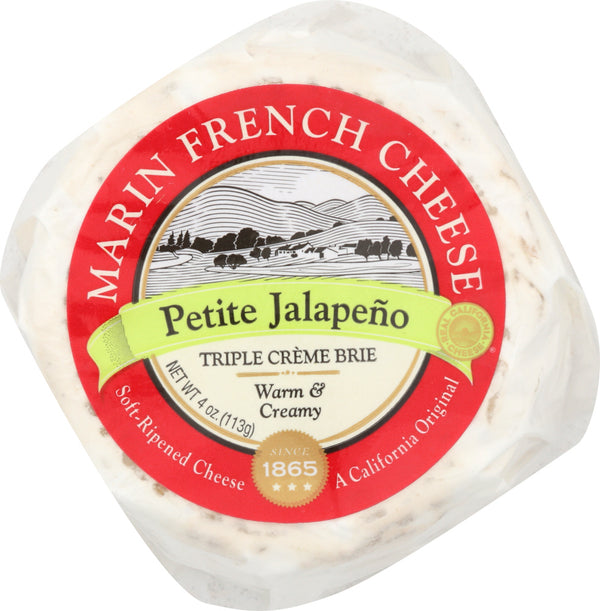 MARIN FRENCH: Cheese Brie Petite Jalapeno, 4 oz