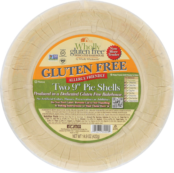WHOLLY WHOLESOME: Gluten Free 9-inch Pie Shell, 14 oz