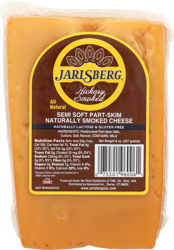 JARLSBERG: Cheese Wedge Jarlsberg Hickory, 8 oz