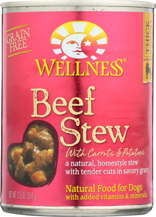 WELLNESS: Beef Stew with Carrots & Potatoes Canned Dog Food, 12.5 oz