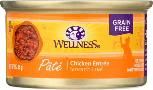 WELLNESS: Adult Chicken Canned Cat Food, 3 oz