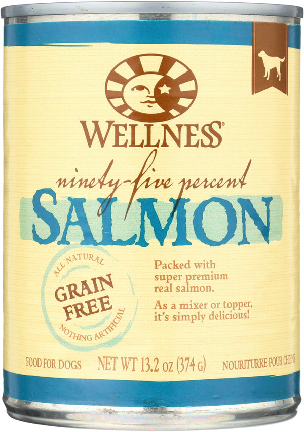 WELLNESS: Dog Food 95% Salmon, 13.2 oz