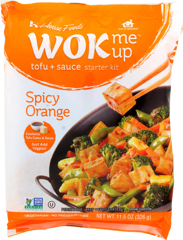 HOUSE FOODS: Tofu WOK Me Up Kit Spicy Orange, 11.5 oz