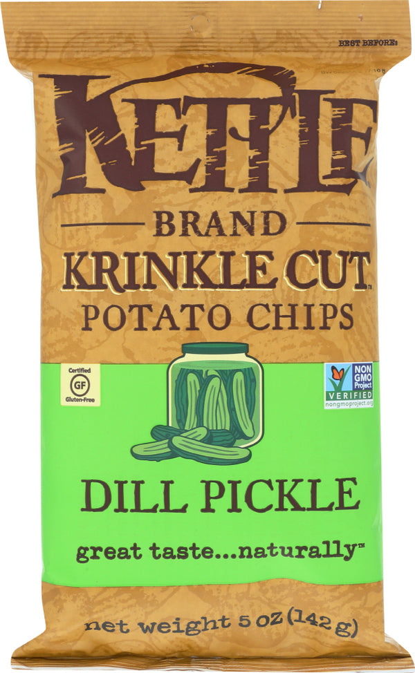 KETTLE FOODS: Dill Pickle Krinkle Cut Potato Chips, 5 oz