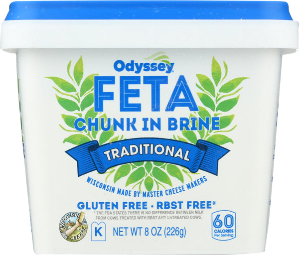 ODYSSEY: Traditional Feta Chunk in Brine Cheese, 8 oz