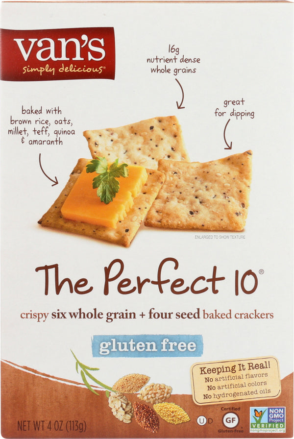 VANS: The Perfect 10 Gluten Free Crackers, 4 oz