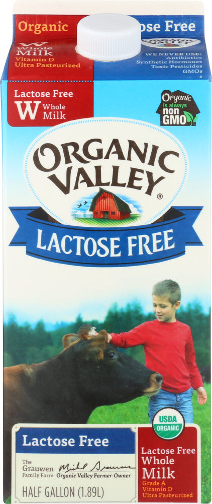 ORGANIC VALLEY: Lactose-Free Whole Milk, 64 oz