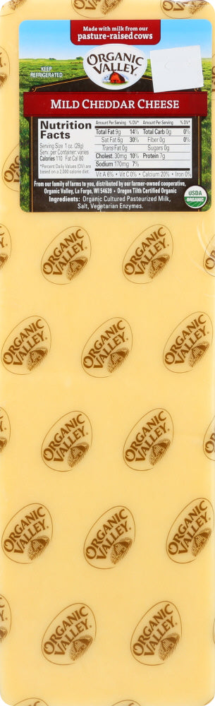 ORGANIC VALLEY: Mild Cheddar Cheese, 5 lb