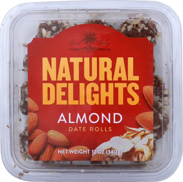 BARD VALLEY: Natural Delights Almond Date Rolls 12 Oz