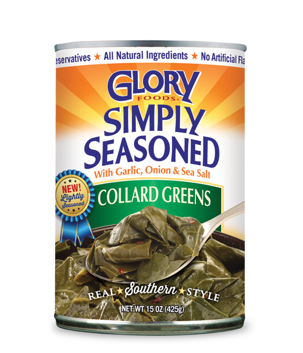 GLORY FOODS: Simply Seasoned Collard Greens, 15 oz