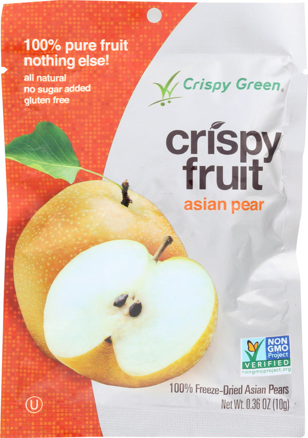 CRISPY GREEN: Crispy Fruit Freeze Dried Asian Pears, 0.36 oz