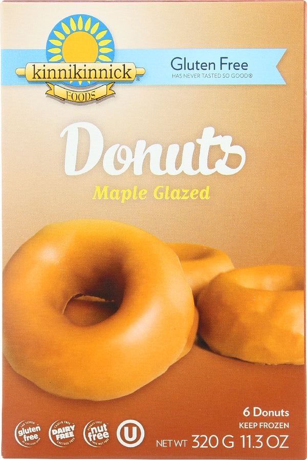 KINNIKINNICK: Gluten Free Glazed Donuts Maple, 11.3 oz