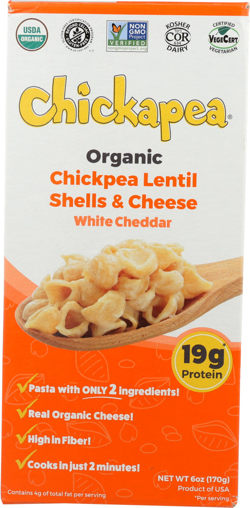 CHICKAPEA: Lentil Shells & White Cheese, 6 oz