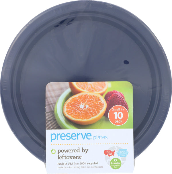PRESERVE: Small Midnight Blue Plate, 10 pc