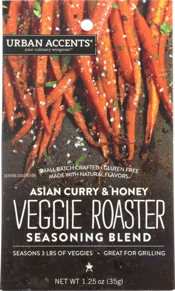 URBAN ACCENTS: Asian Curry & Honey Veggie Roaster Seasoning, 1.25 oz