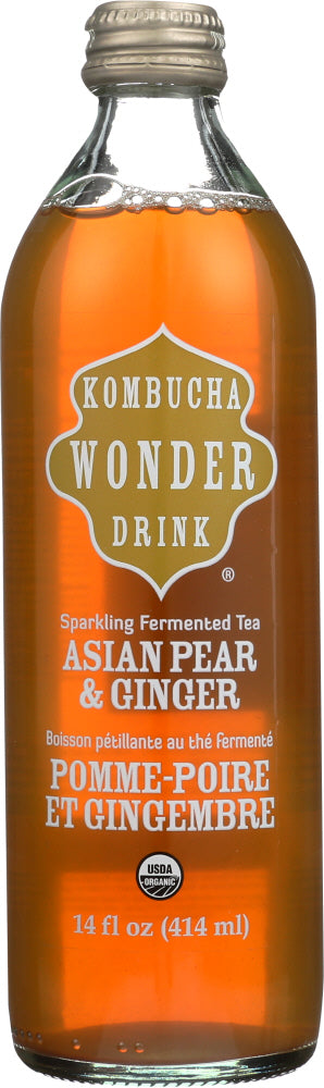 KOMBUCHA: Wonder Drink Asian Pear & Ginger, 14 oz