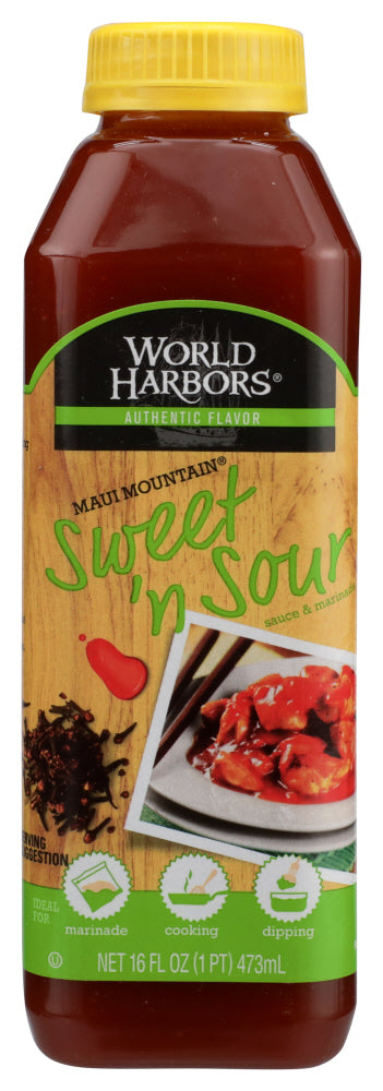 WORLD HARBORS: Sauce Maui Mountain Sweet 'n Sour, 16 oz