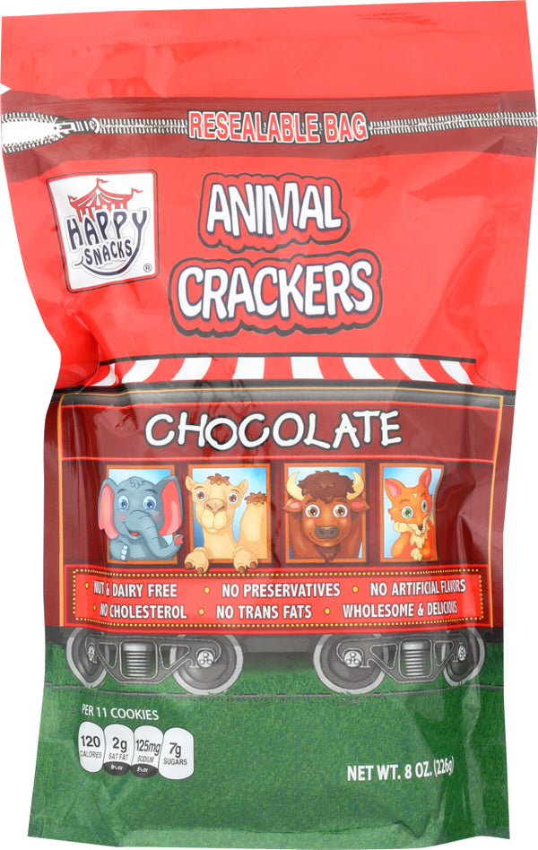 HAPPY SNACKS: Cracker Chocolate Animal, 8 oz