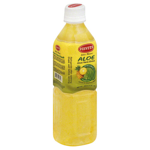 VISVITA: Drink Aloe Vera Pineapple Flavor, 16.9 oz